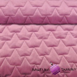 velvet dark dirty pink quilted in crowns