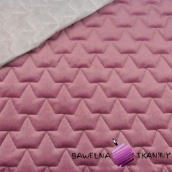 velvet dark dirty pink quilted in crowns