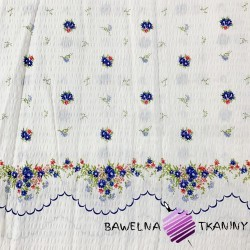 Kora bawełniana chabry na białym tle