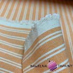 Tkanina dekoracyjna bawełniana pasy pomarańczowe