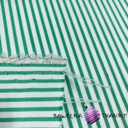 Tkanina dekoracyjna bawełniana pasy biało zielone