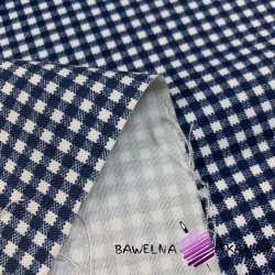 Decorative fabric  white & navy checkered