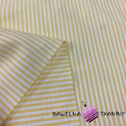 Decorative fabric - white & yellow stripes
