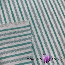 Tkanina dekoracyjna pasy szaro zielone