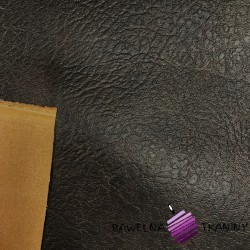 dark brown decorative eco leather clothing fabric