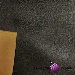 Tkanina dekoracyjno ubraniowa eco skóra ciemno brązowa
