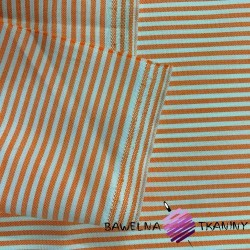 Decorative fabric - white & orange stripes