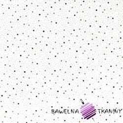 Bawełna gwiazdki MINI granatowo szare na białym tle