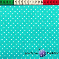 Cotton white dots on sea colour background