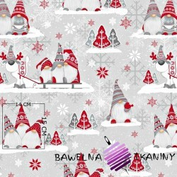 Cotton Christmas pattern sprites with reindeer on a gray background