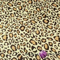 Cotton beige and brown leopard