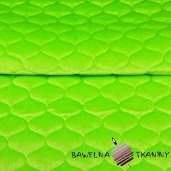 Velvet pikowany limonkowy (Jasmine green) - bączki