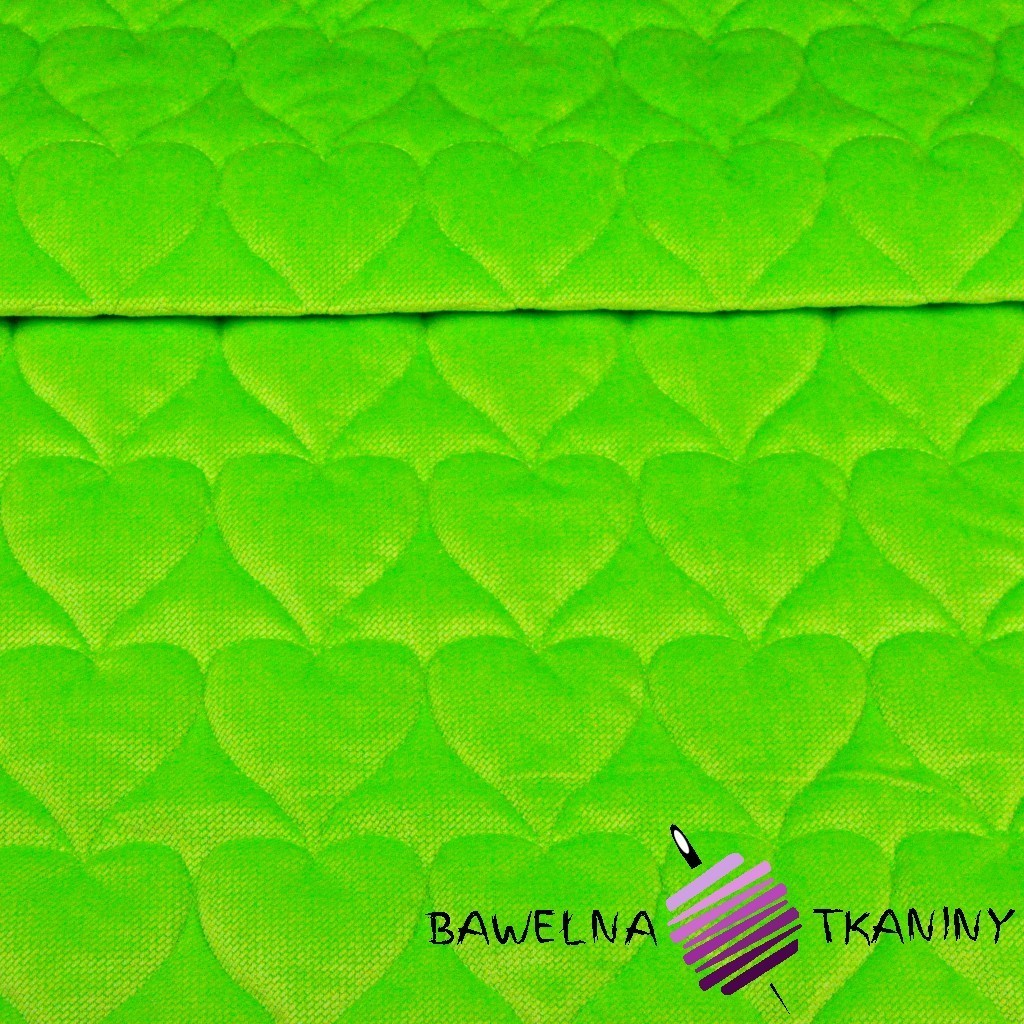 velvet lime quilted in hearts