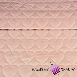 velvet dirty pink quilted in hearts
