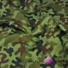 wodoszczelna tkanina moro zielono brązowe
