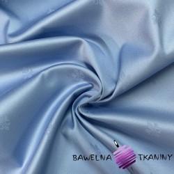 Tkanina obrusowa niebieska - wzór lilijka