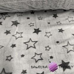 Fleece plus two-sided gray & gray stars - 220cm