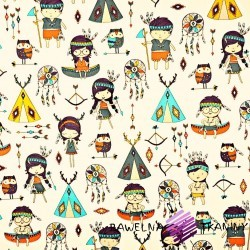 Cotton colorful Indians on white background