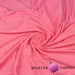 Dzianina Jersey jednokolorowa różowa