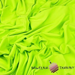 Dzianina Jersey jednokolorowa jasna zielona