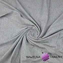 Cotton Jersey with elastane gray melange