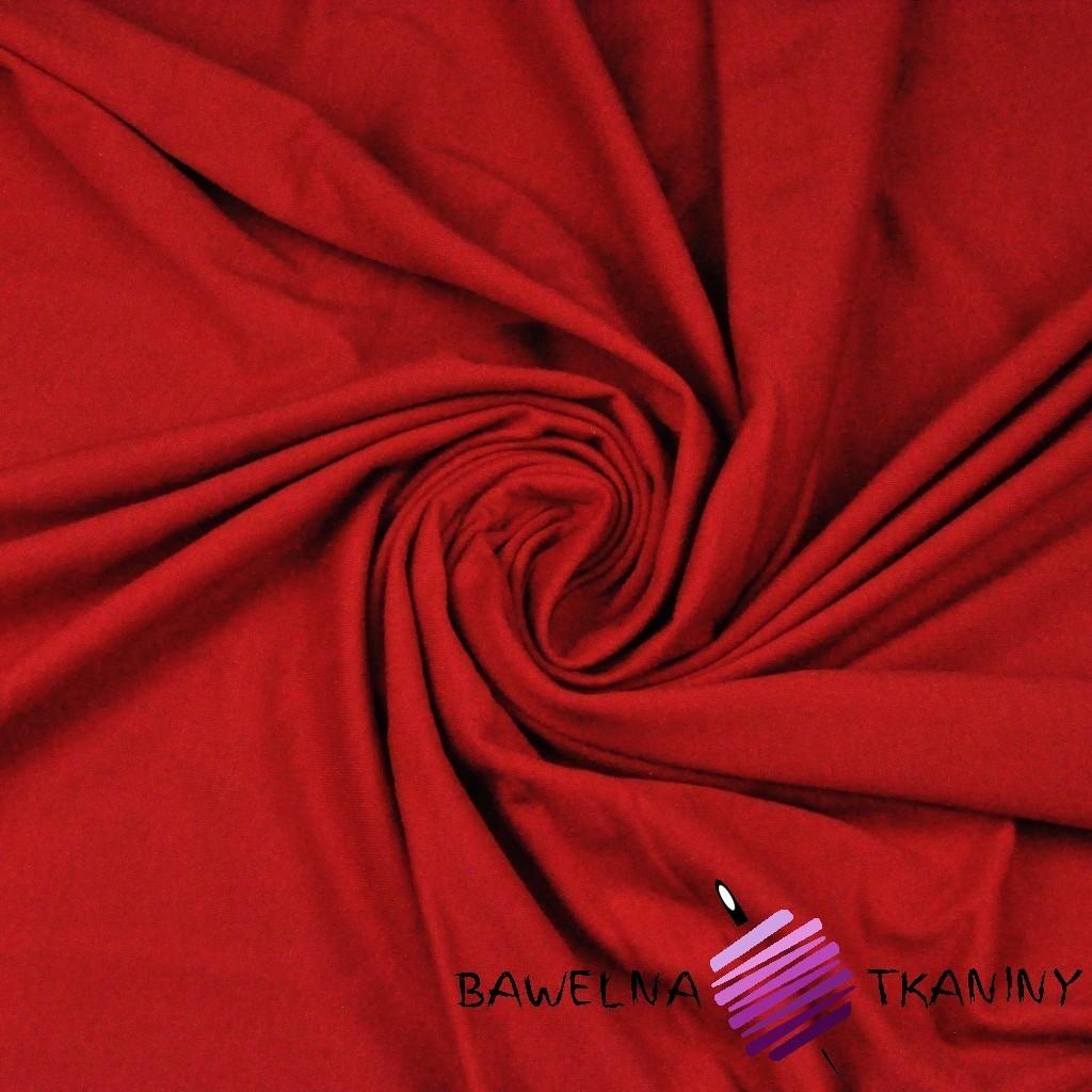 Dzianina Jersey jednokolorowa czerwona