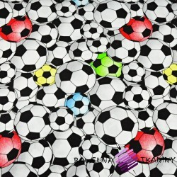 Cotton Jersey - football balls 3D