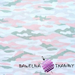 Cotton Jersey - camouflage white pink gray