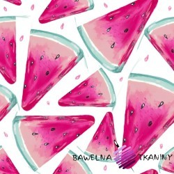 Cotton Jersey digital print - Watermelon on white background