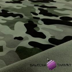 Dresówka pętelka - Moro jasne zielono szaro czarne