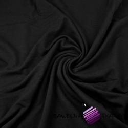 Dresówka pętelka - gładka czarna