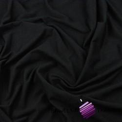 Dzianina Jersey jednokolorowa czarna