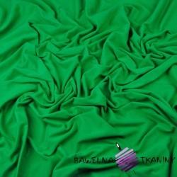 Dzianina Jersey jednokolorowa zielona