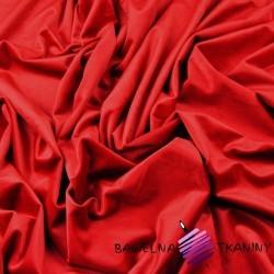 Polyester velvet - red