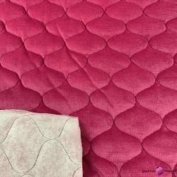 Velvet pikowany fuksja (Fuchsia) - bączki