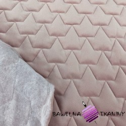 velvet dirty pink quilted in crowns
