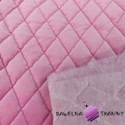 velvet pink quilted in diamonds