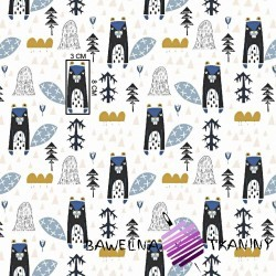 Bawełna bobry niebieskie na białym tle
