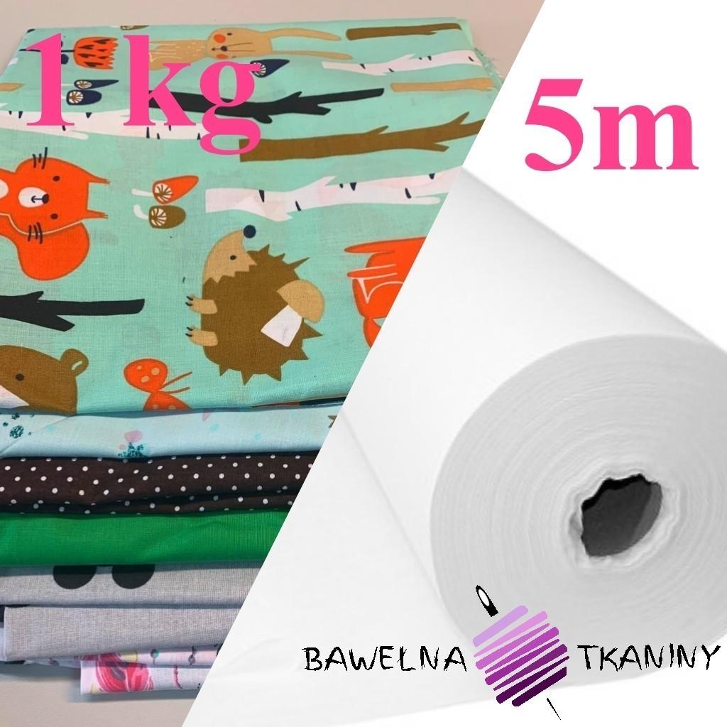 Pakiet Flizelina medyczna biała 40 g/m2 + ścinki bawełny 1 kg