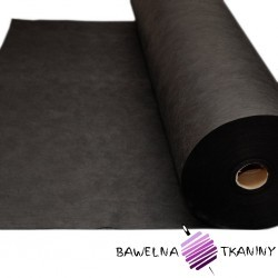 Black medical fleece 50g/m2 - whole roll - 275 m