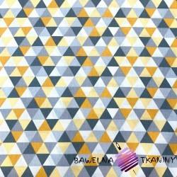 Bawełna trójkąty małe szaro pomarańczowe