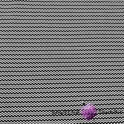 Bawełna zygzaczek biało czarny