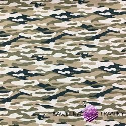 Cotton Jersey - camouflage sandy & beige