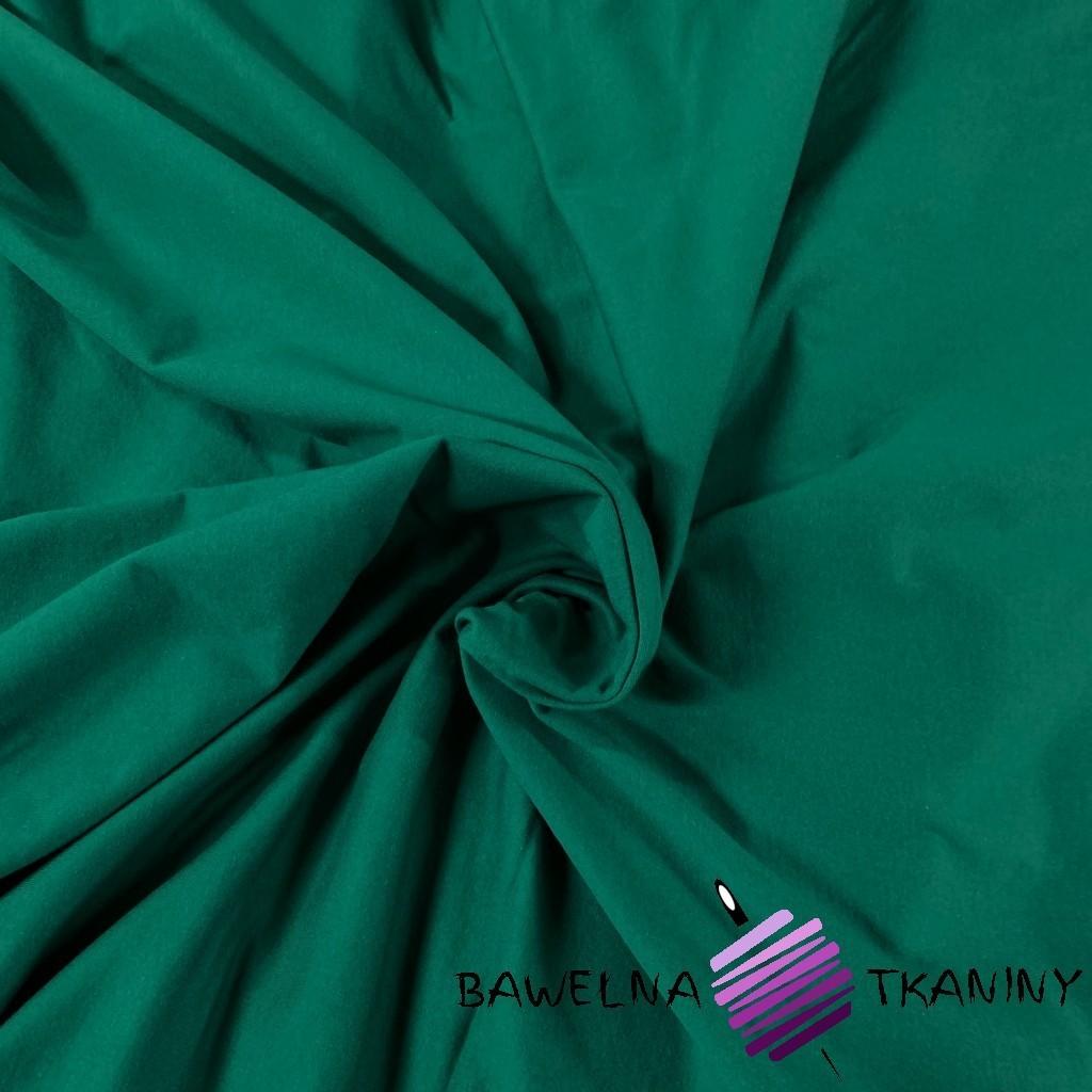 Dzianina Jersey jednokolorowa butelkowy zielony