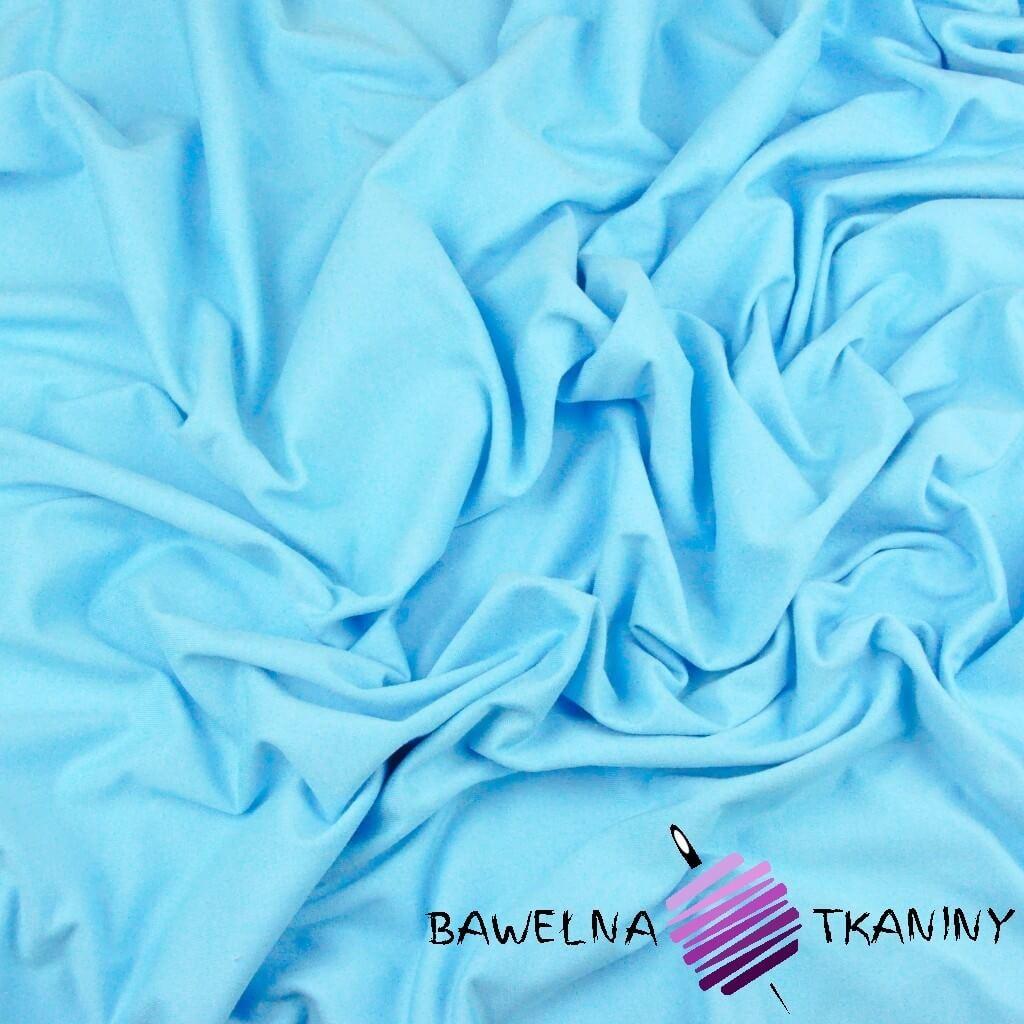 Dzianina Jersey jednokolorowa jasny niebieski