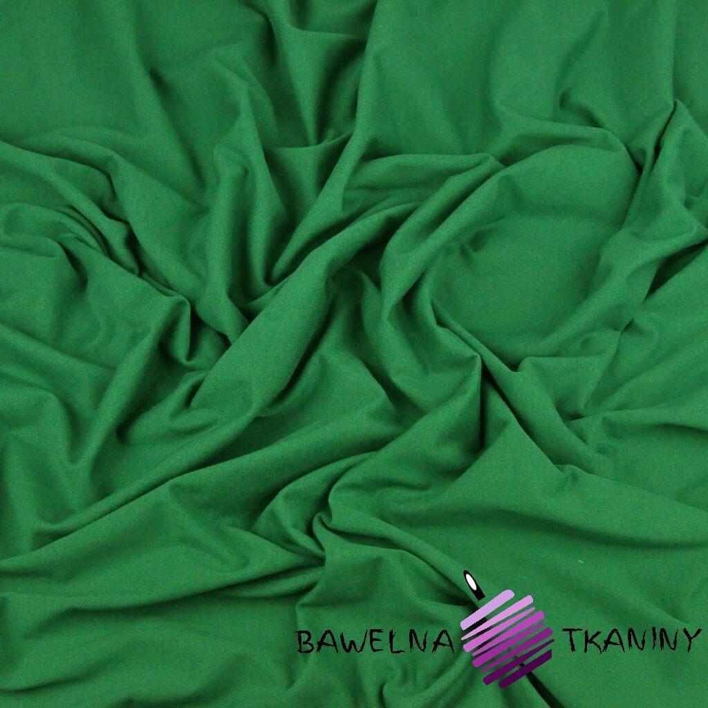 Dzianina Jersey jednokolorowa ciemny zielony