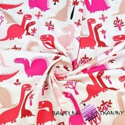 Bawełna dinozaury czerwone