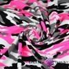 Dresówka pętelka - moro różowo biało czarne
