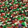 Dresówka pętelka - moro zielono czerwono czarne