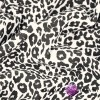Looped knit - black brocade leopard on ecru background